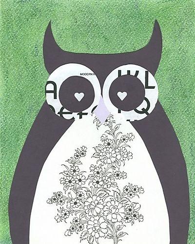 Rosemary the modern owl by christina lyon via etsy