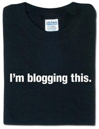 Blogging tshirt