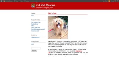 Tiko's Tale « K 9 Kid Rescue